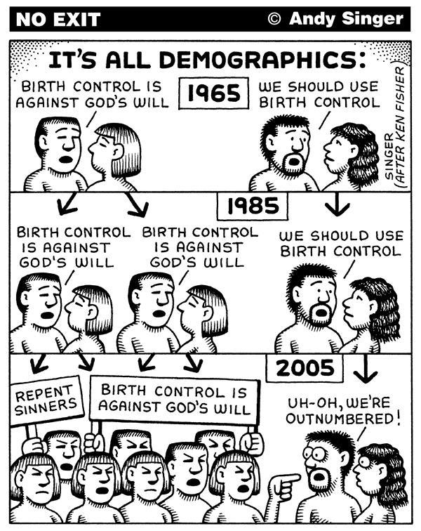 azspot:  Andy Singer: Demographics of Mortality  idiocracy