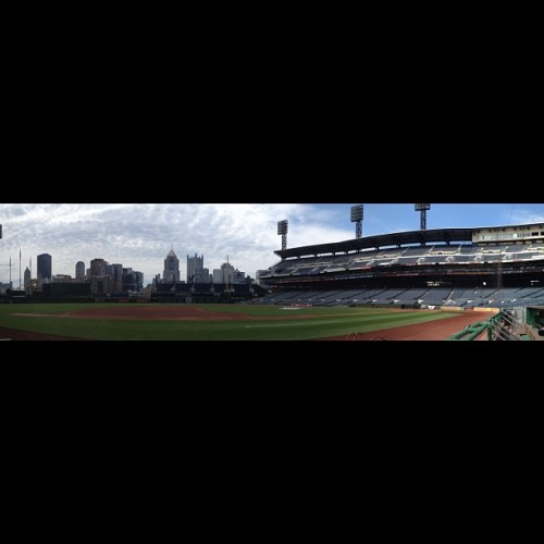 Good morning Pittsburgh. (Taken with Instagram at PNC Park)