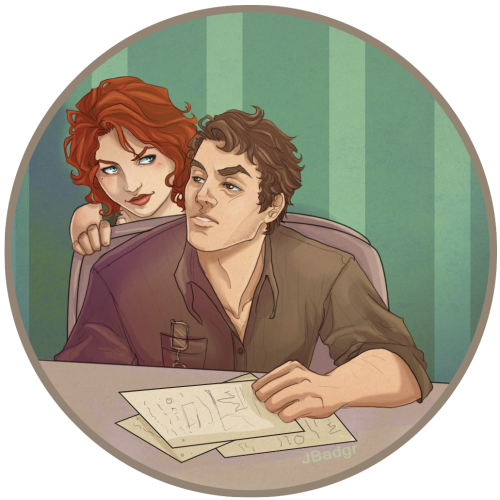 "Natasha and Bruce ""Get some sleep, big guy""  Art by: JBadgr Natasha and Bruce (c) Marvel Comics"
