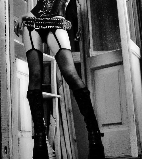 big, stompy boots and stockings…::drools::