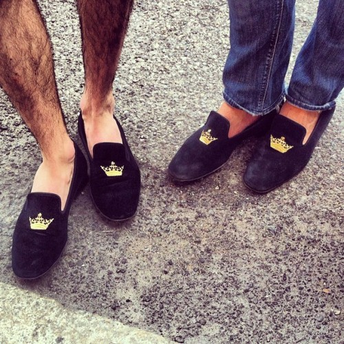 mrporter:  Slippers squared outside Prada #mfw #attheshows (Taken with Instagram)