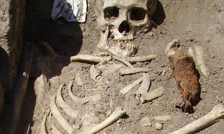 "Vampire beliefs still have bite The recently discovered 'vampire' skeletons in Bulgaria may be centuries old but some blood-sucking superstitions refuse to die  The unearthed skeleton, pinned down through the chest with iron rod, in an excavation site in Sozopol, Bulgaria. Photograph: National History Museum of Bulgaria/HO/EPA     Last weekend, Bulgarian archaeologists working near the Black Sea town of Sozopol unearthed centuries-old skeletons pinned down through their chests with iron rods. Interestingly, this technique was evidently used to ""stop the dead from becoming vampires"": people who had been ""unusual"" in life (alcoholics, criminals and assorted outsiders) were automatically suspect, even before any vampiric assaults had actually occurred. The Bulgarian finds were mere youngsters by comparison with the deviant burials unearthed in Mikulovice, in the Czech Republic, a few years ago. There, the bodies weighted down with rocks were thought to be around 5,000 years old. In the age of modern ""vampotainment"" – with Johnny Depp recently offering yet another vampire who many women (and men) would die for – we might forget that vampires were not invented for fun. For most of history, vampirism was the subject of mind-shattering terror. During a vampire outbreak, everyone would routinely flee their houses and sleep together in one building. Meanwhile, there was the question of those who fell into a coma. In Greece, one family was so terrified that their comatose daughter risked becoming undead that they buried her alive, against the desperate pleas of the local doctor (secretly, he opened up her grave that night, only to have her die in his arms). In the same country, another luckless man woke from a coma at his own funeral, in his open coffin. Sadly, this was no cause for celebration. Traumatised by this vampiric being, the villagers stoned him to death.  Oh, I do love a good vampire skeleton news story! Click through to read the rest of the article."