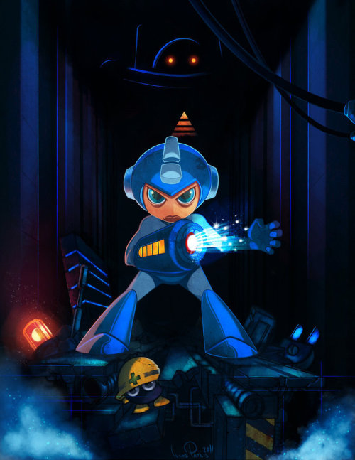 otlgaming:  MEGA MAN THE BLUE AVENGER by ILIAS PATLIS (via thenintendard)