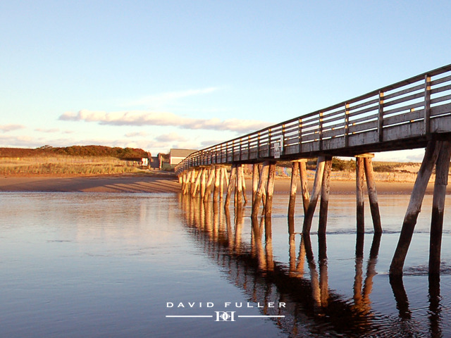 footbridge beach, ogungquit maine david fuller photography