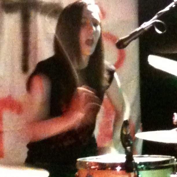 Sama's drum face. (Taken with Instagram)