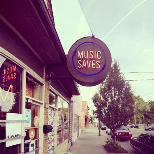 Our HISTORY LP can now be purchased at Music Saves in Cleveland, OH. (Taken with Instagram at MUSIC SAVES)