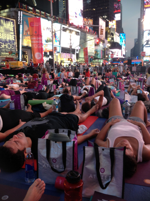 Solstice in Times Square 2012 - Mind Over Madness Yoga. Had an amazing time, great energy!
