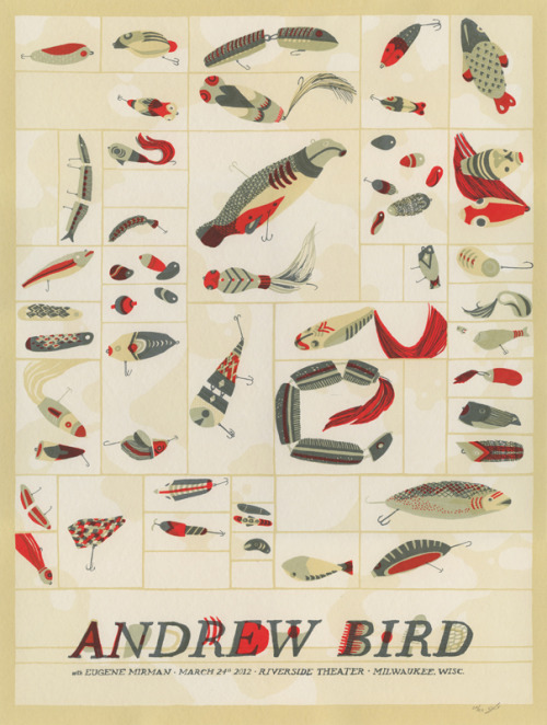 Andrew Bird screen-print gig poster by Landland.