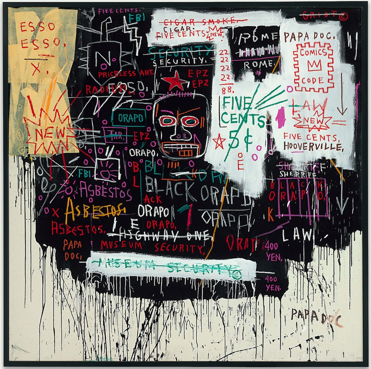 nevver:  Museum Security (Broadway Meltdown), Basquiat