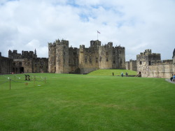 Alnwick Castle, Northumberland, England. Parts of this castle have been used for many films, including Harry Potter. It is also still used as a residence by the Duke of Northumberland and his family.