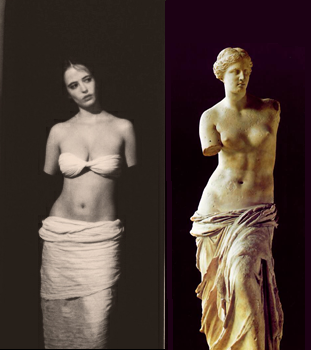 Eva Green as the Venus De Milo.