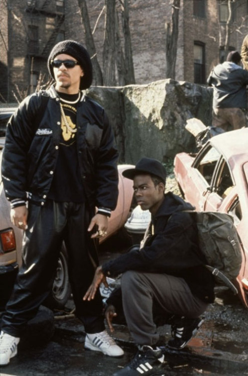 jbeckford:  Movie (1991) Ice-T + Chris Rock // New Jack City Scotty Appleton + Pookie in New Jack City. Photo Source: IMDB.com