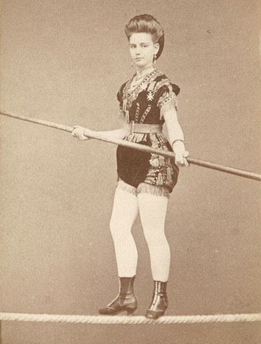 Lady Tightrope Walker c.1879