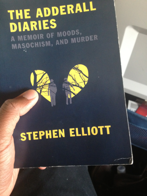 Just finished reading THE ADDERALL DIARIES by Stephen Elliott. It's a darkly brilliant book about memory, fathers and sons, and the wounds we make trying to heal ourselves.   I'm leaving it on the plane for someone else to find and read.