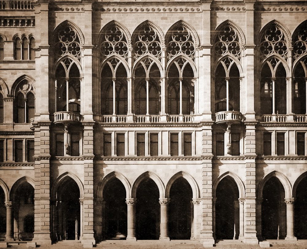 The facade of the City Hall, Vienna