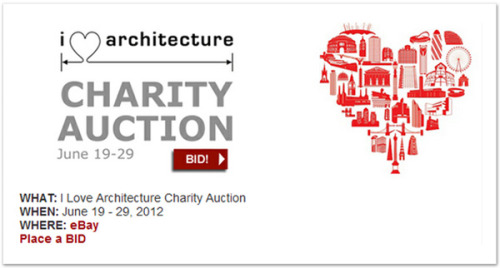 I Love Architecture Charity Auction: June 19 - 29, 2012 Architecture for Humanity has launched their much anticipated I Love Architecture Charity Auction, which will run through June 29, 2012. At auction are over 70 hand sketches, paintings, prints, renderings, lithographs, models and even a pigskin, from 50 of the world's top architects and designers. All proceeds will go to support Architecture for Humanity. Contributions from: Frank Ching • DJ Spooky • Jeanne Gang • Frank Gehry • Michael Graves • Fumihiko Maki • HWKN • J. Mayer H. • Steven Holl • Bjarke Ingels • Michelle Kaufmann • Kengo Kuma • Daniel Libeskind • Andrew Luck • Richard Meier • Renzo Piano • Alysia Reiner • Kevin Roche • Richard Rogers • Moshe Safdie • SHoP Architects • Paolo Soleri • Michael Van Valkenburgh • Tod Williams + Billie Tsien • Zoka Zola and many more via: thedpages