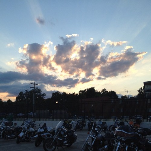 sunset over Friday's Comfest. #nofilter (Taken with Instagram)