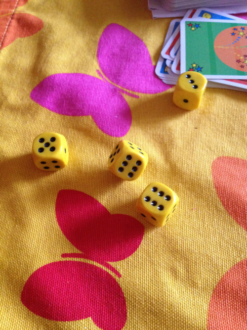 When play a game Johanna rolled the dice and it landed like this.