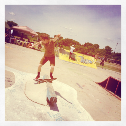 Jeremy Knickerbocker Fs Board at yesterdays Davison Comp.