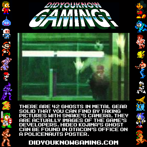 didyouknowgaming:  Metal Gear Solid.