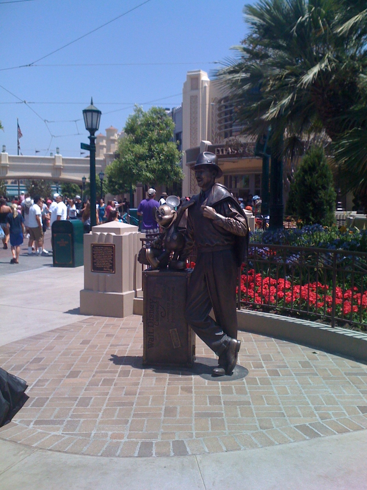 Walt and Mickey Statue at Buena Vista Street in Disney California Adventure :)