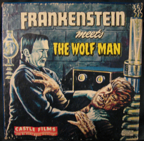 Frankenstein Meets The Wolfman (1943) 8mm film box