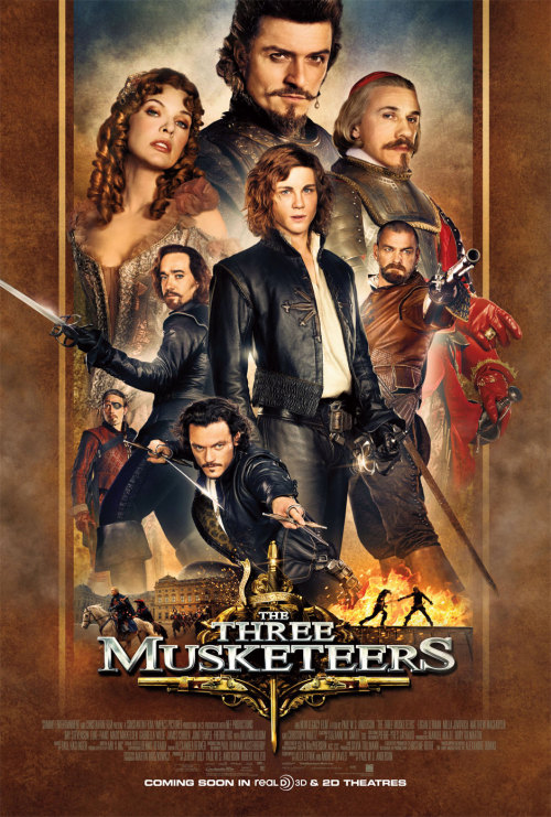 I watched The Three Musketeers for the first time last night and despite the bad reviews, I liked it! I thought it was very humorous and enjoyable. Then again anything with Logan Lerman is fine by me. Logan Lerman, James Corden, Matthew Macfadyen, Luke Evans and Orlando Bloom make everything alright. :)
