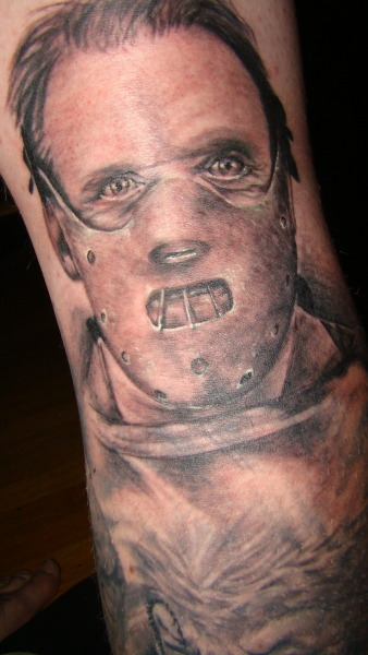 hannibal lecter, by Freddy Robles of Ink Shop in arcadia CA