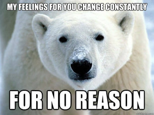 fuckyeahbipolarbear:  changing feelings