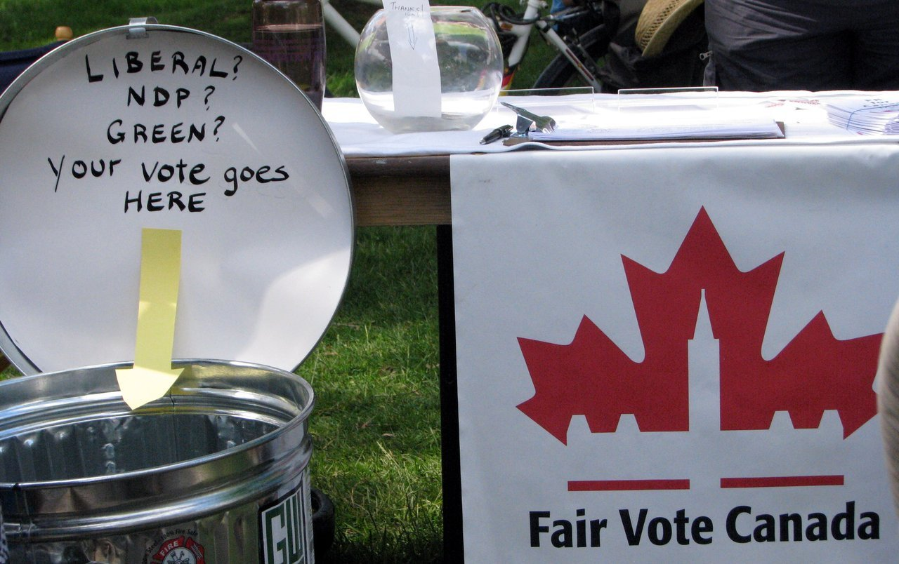 And the Waterloo Region Chapter of Fair Vote Canada was on hand to help Canadians understand what's wrong with the antiquated electoral system we are saddled with.
