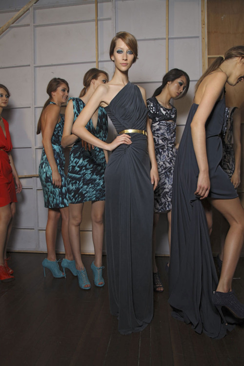 Emanuel Ungaro, Spring 2012 Ready-to-Wear, backstage (+)  Alana Zimmer