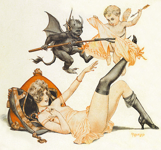 millyonline:  Chéri Hérouard. Illustrations here, and here. You might recognize some covers of La Vie Parisienne.