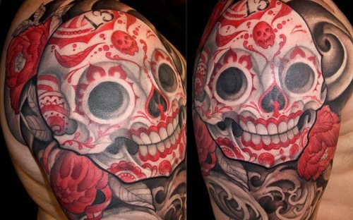 Sugar Skull Half Sleeve | By: Mike Boissoneault