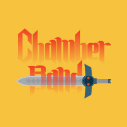CHAMBER BAND My friends and I used to have a podcast. Courtney has a brother in a band. One day Courtney's brother called me to do some artwork for a poster. And then we decided I should just make the logo too. And then we thought some business cards would be nice. Now we're working on the website. But take a look at all that sexy up there for now.