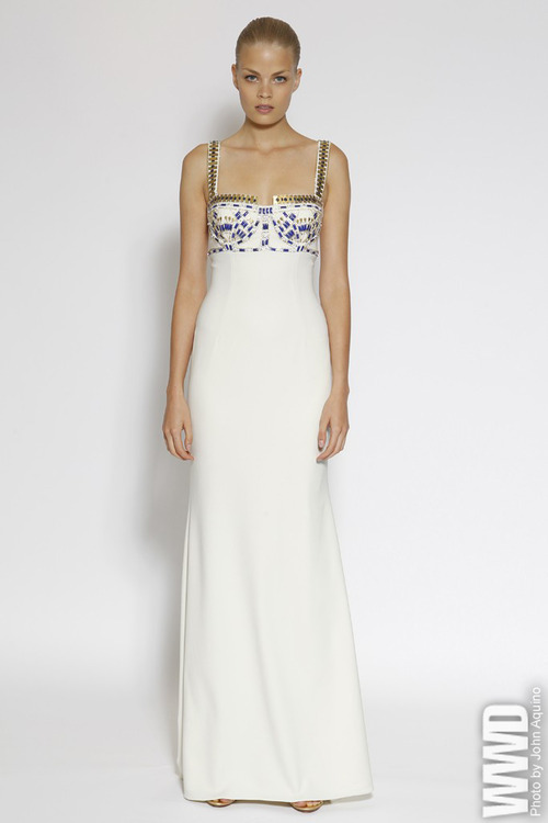 What would Arianne wear?A beaded dress from Badgley Mischka Resort 2013.