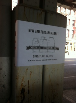 New Amsterdam Market sign