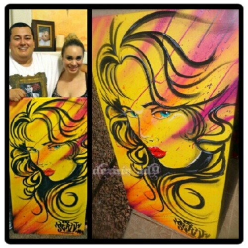 Happy Collector's #graffiti #painting #canvas #beauty #collector @alftron_blkmth @peanut_britta  (Taken with Instagram)