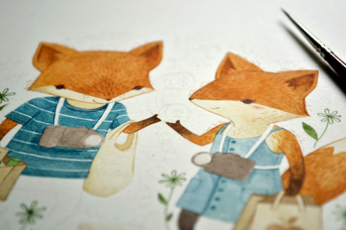 painting foxes, to no one's surprise