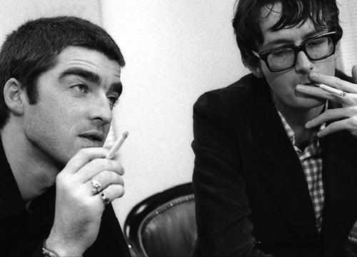 two icons, two cigarettes