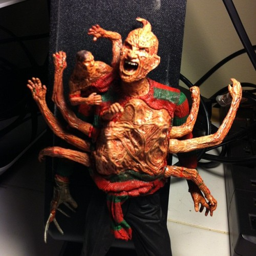 Latest addition to the Freddy collection. @Neca_Toys, you rule! #Freddy #NightmareonElmStreet #figures #toys #horror  (Taken with Instagram)