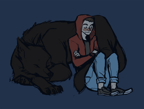 pembroke:  wolf cuddles are best