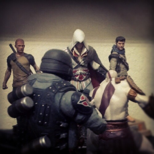 @beejayc #colemcgrath #infamous #ezio #assassinscreed #natedrake #uncharted #helghast #killzone #kratos #godofwar (Taken with Instagram)