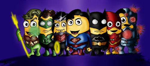 hellyeahsupermanandwonderwoman:  Justice League Minions by BlueEyedTonks