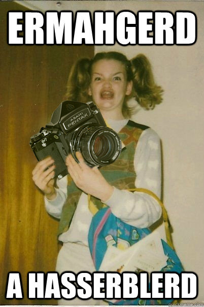 If you've ever used a camera made before 1990 in public, this will make total sense.