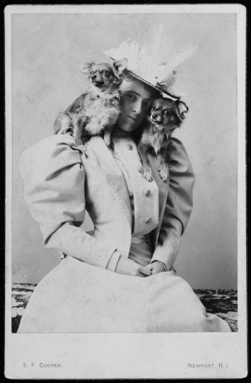(via Dog Art Today: Happy Birthday Dog Lover Edith Wharton!) Does everyone realize how awesome Edith Wharton is? The Age of Innocence is currently knocking my socks off, and stumbling upon these insane portraits of Wharton with her beloved dogs makes me love her even more. - Angie