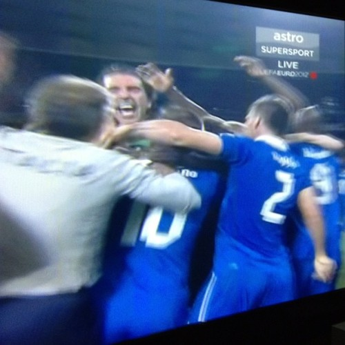 devuschka:  THAT WAS WORTH THE WAIT! #ITALY WON!!! #euro2012 (Taken with Instagram)  It was Italy's game already well played from the very first beginning