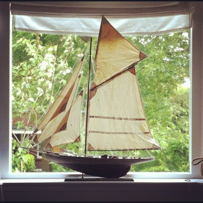 takeyourwingsandfly:  ⛵ #boat #sail #sailboat #hope #scale #instamood #instagood #composition #photography #love #vintage #old #pirate 😁 (Taken with Instagram)