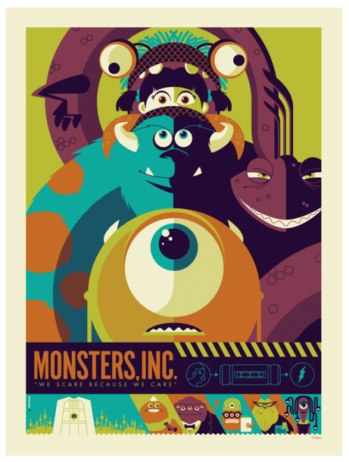 "fuckyeahpsychedelics:  ""Mondo: Monsters Inc. Var"" by strongstuff"
