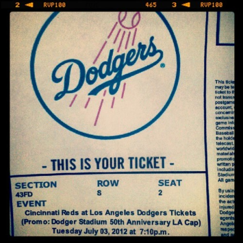 Woot woot :)  #dodgers  (Taken with Instagram)