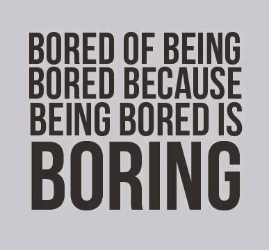 the rules of being bored